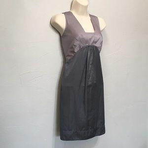 Banana Republic Elegant Gray Blush Zipper Dress